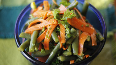 Ejotes con Zanahorias al Limón