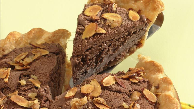 Chocolate-Almond Ice Cream Pie