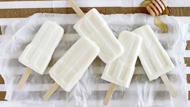 Salted Honey-Vanilla Frozen Yogurt Pops