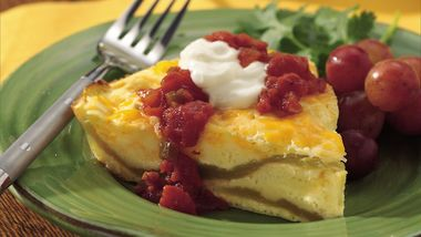 Impossibly Easy Chiles Rellenos Pie