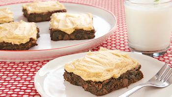 Frosted Mocha Espresso Brownies
