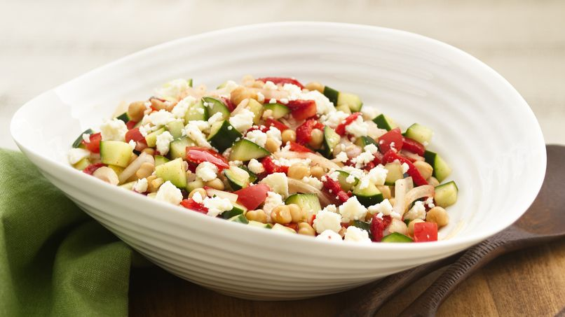 Greek Chick Pea and Cucumber Salad