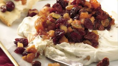 Nutty Cheese Spread with Fruit Chutney