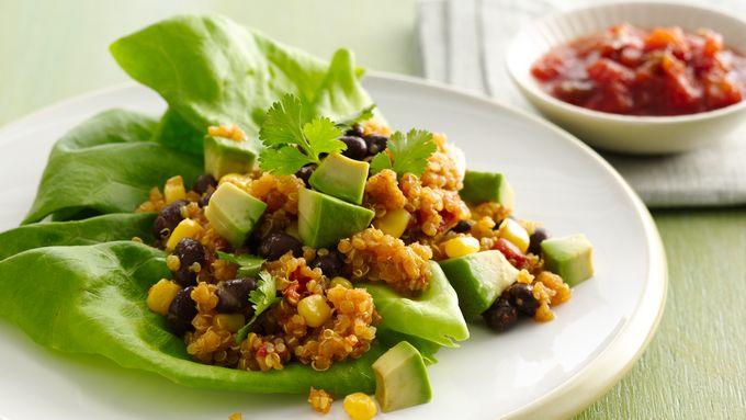 Gluten-Free Mexican Quinoa Lettuce Wraps