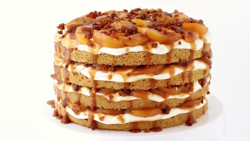 Naked Peach Cobbler Cake