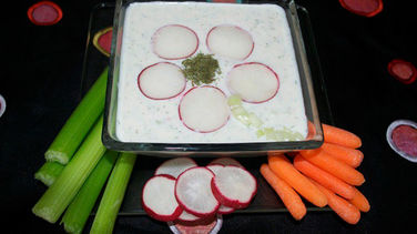 Cucumber, Radish and Yogurt Dip