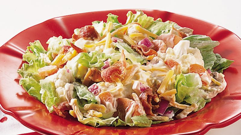 Layered Lettuce Salad recipe - from Tablespoon!