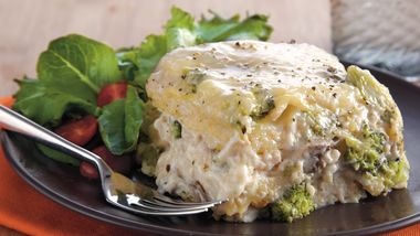 Slow-Cooker Chicken Broccoli Lasagna