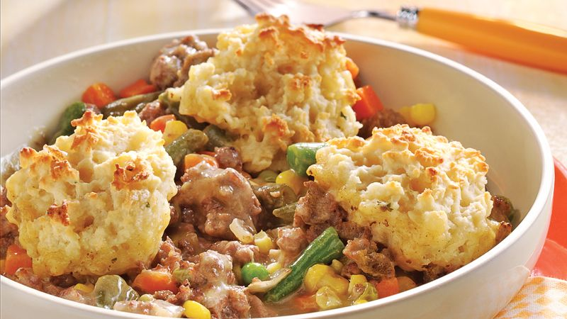 Beef Bake with Garlic-Potato Dumplings