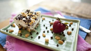 Gluten-Free Chocolate Peanut Butter Frozen Yogurt Dessert Bars