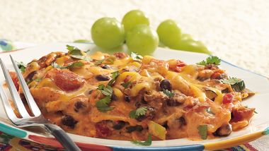 Overnight Mexican Tortilla Lasagna