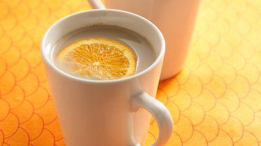 Orange-Ginger Green Tea Latte