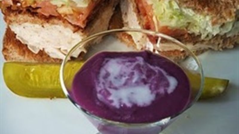 Purple Sweet Potato Coconut Soup