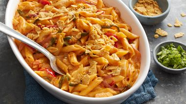Chicken Fajita Macaroni and Cheese