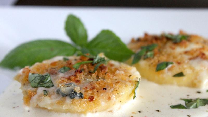 Crunchy Cheesy Oven-Baked Polenta recipe from Betty Crocker