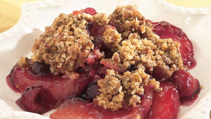 Gingered Apple-Berry Crisp