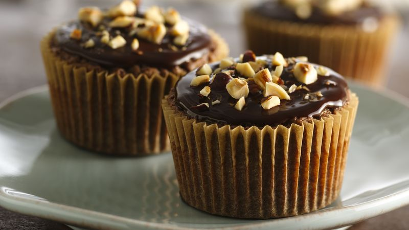 Chocolate-Hazelnut Cupcakes