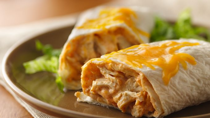 Creamy Turkey Burritos