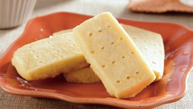 Lemon Cornmeal Shortbread