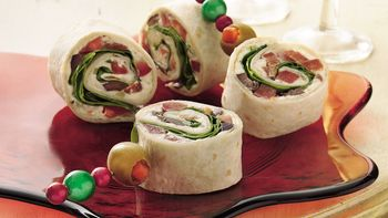Greek Salad Pinwheels