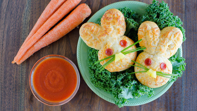 Crescent Bunny Pizza Dunkers