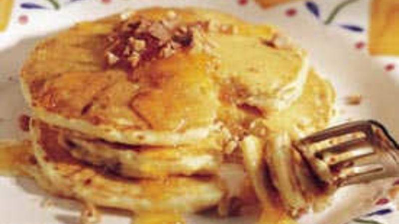 Orange-Toffee Pancakes
