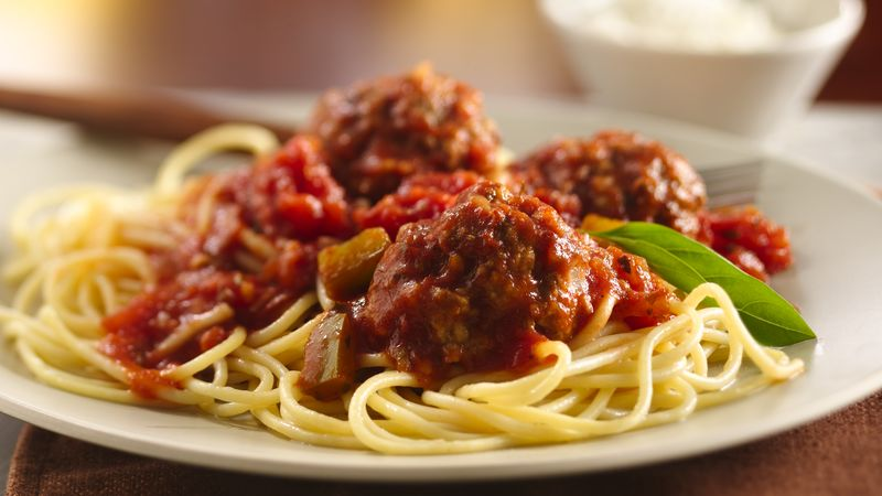 Spaghetti and Meatballs recipe from Betty Crocker
