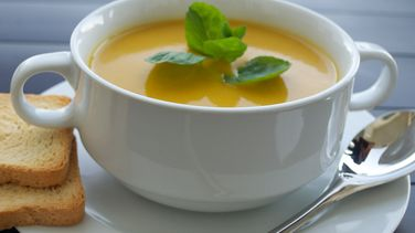 Cream of Pumpkin Soup with Chicken