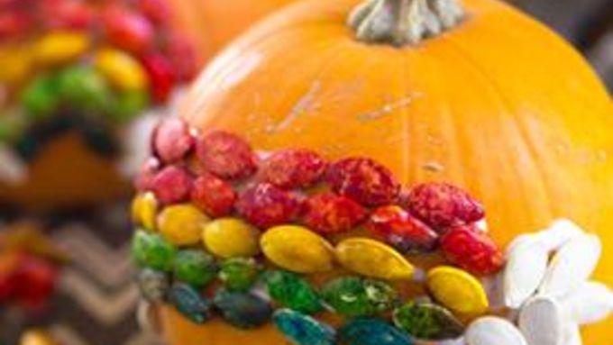 Rainbow Pumpkin Seed Craft
