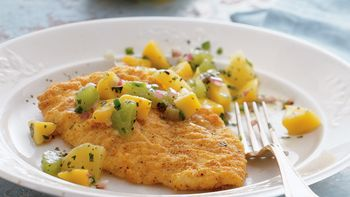 Crispy Baked Fish with Tropical Salsa