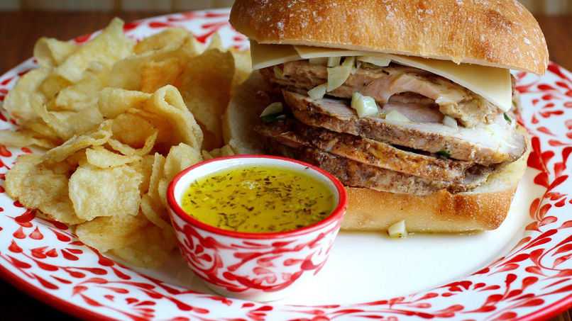 Sándwich de Cerdo con Mojo