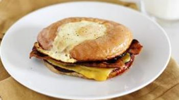 Fried Egg Donut Breakfast Sandwich