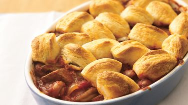 Beef Burgundy with Biscuits