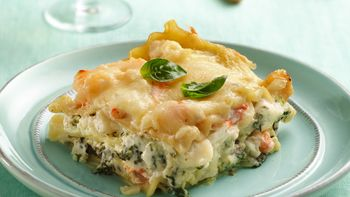 Seafood-Spinach Lasagna