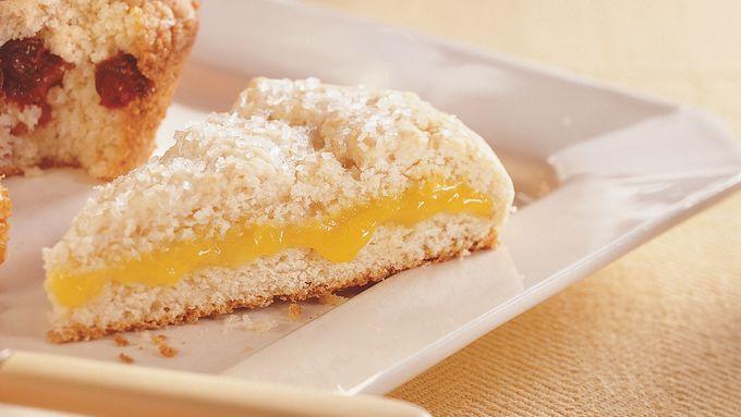 Lemon-Filled Fresh Ginger Scones