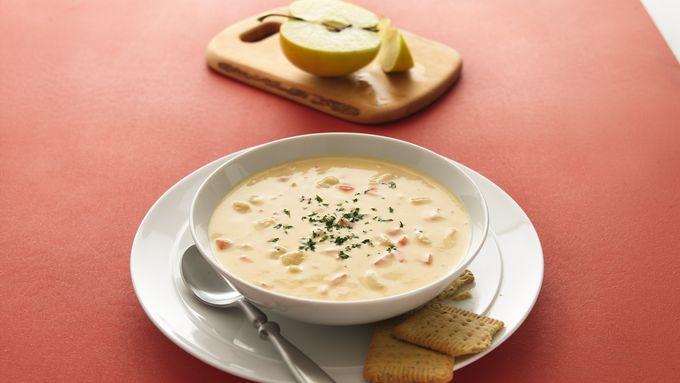Cheddar-Apple Soup