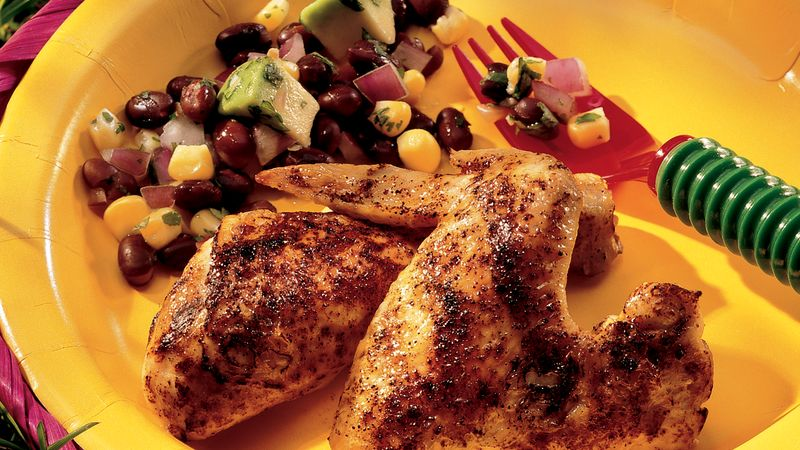 Grilled Chili Chicken with Southwest Relish