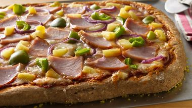 Hawaiian Whole Wheat Pizza