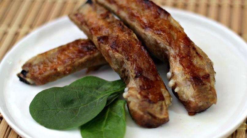 Pork Ribs Marinated in Pineapple Juice