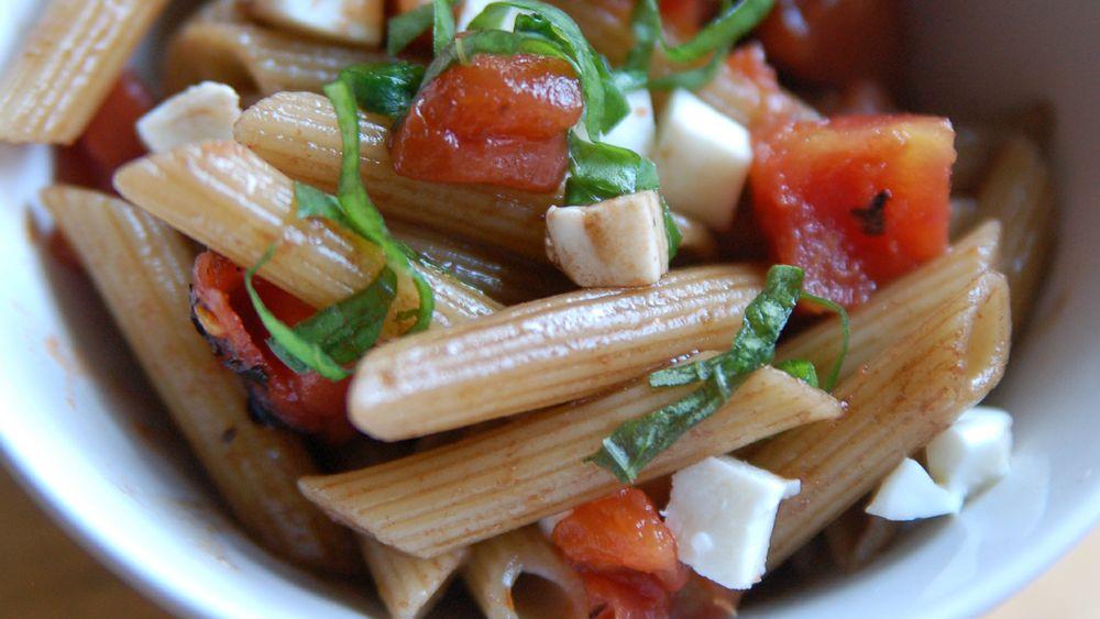 Quick Penne Pasta Salad with Balsamic Vinaigrette