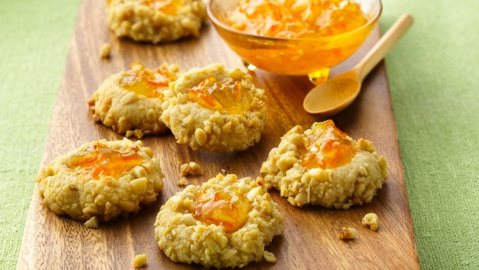 Orange and Pine Nut Thumbprint Cookies
