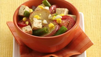 Vegetables and Tofu Skillet Supper