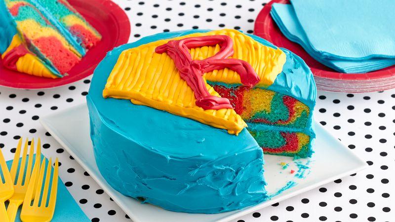 Easy Superhero Layer Cake