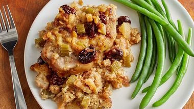 Slow-Cooker Pork Chops with Apple-Cherry Stuffing