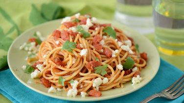 Espagueti con Chorizo y Chipotle