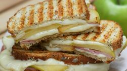 Apple and Ham Grilled Cheese Sandwich