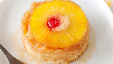 Boozy Mini Pineapple Upside Cakes