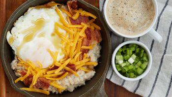 Bacon and Egg Savory Oats