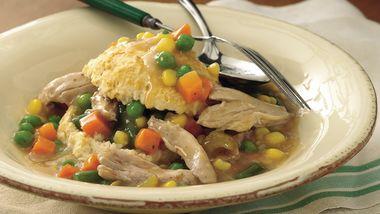 Slow-Cooker Upside-Down Chicken Pot Pie