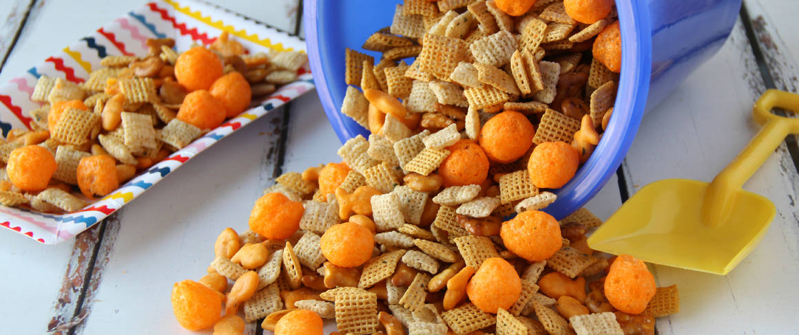 Beach Ball Party Chex Mix™ recipe from Betty Crocker